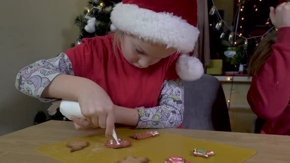 Thumbnail for Child Paints Christmas Cookies