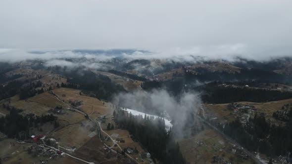 Carpathian Mountains From A Bird's Eye View