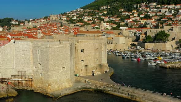 Thumbnail for The harbor and  Old Town of Dubrovnik.