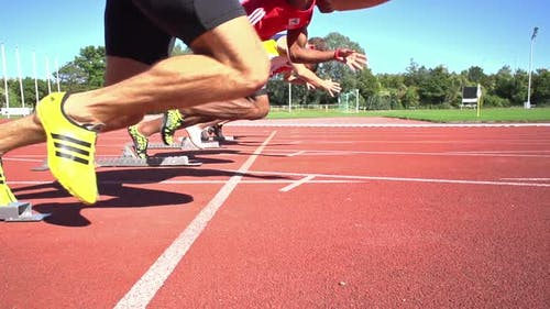Slomo Sprint Start Side View