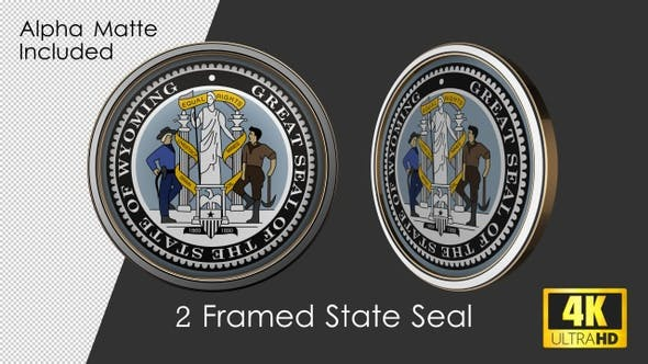 Thumbnail for Framed Seal Of Wyoming State