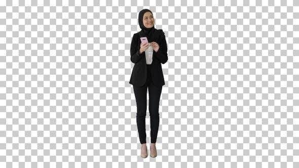 Young muslim woman wearing hijab headscarf, Alpha Channel