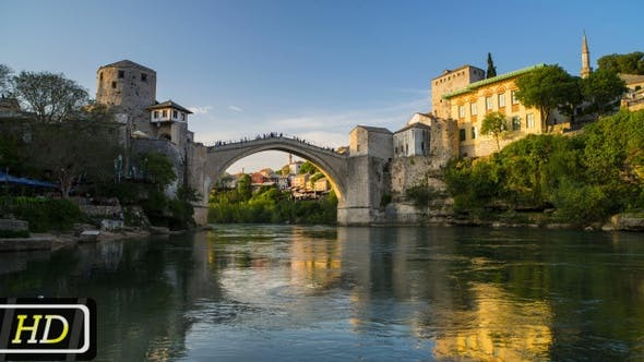 Thumbnail for The Old Bridge In Mostar, Bosnia and Herzegovina