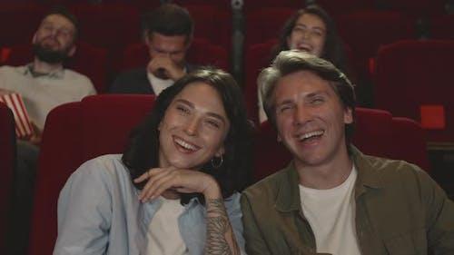 Spectators Laughing in Cinema