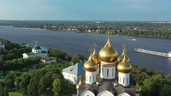 Thumbnail for Aerial View of Church in Yaroslavl Russia