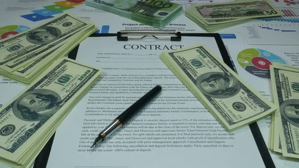 Thumbnail for Financial Business Contract And Money