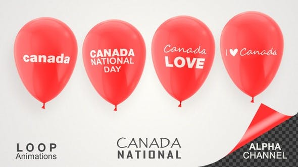 Thumbnail for Canada National Day Celebration Balloons