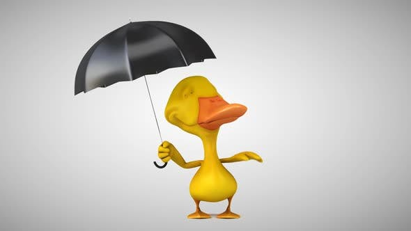 Thumbnail for 3D Animation if a fun duck with an umbrella