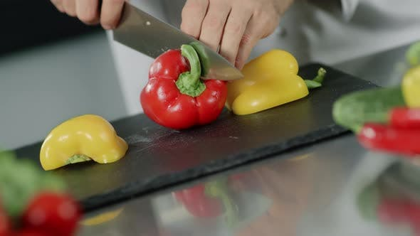 Thumbnail for Chef Cooking Food at Kitchen Restaurant