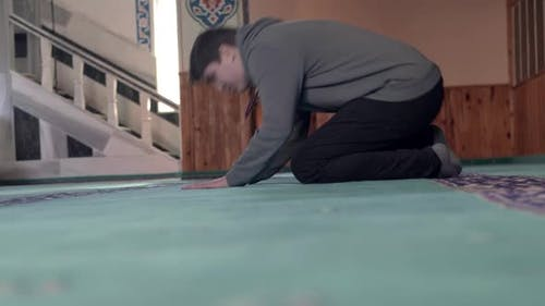 Muslim Prostration Islamic Mosque