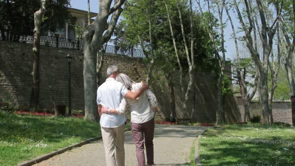 Thumbnail for Senior couple walking in the park, Istanbul, Turkey