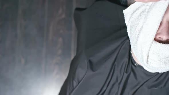 Thumbnail for Barber Using Hot Towel