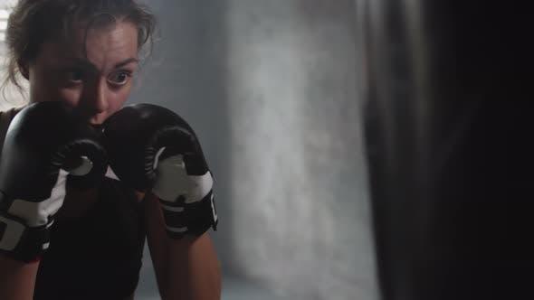 Thumbnail for Female Pugilist Exercising in Gym