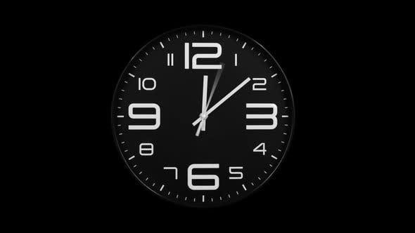 Thumbnail for Modern Black Clock Face Moving Fast Forward