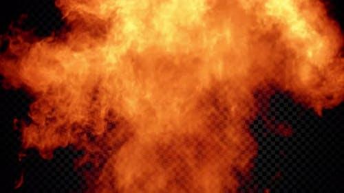 Mächtige feurige Explosion