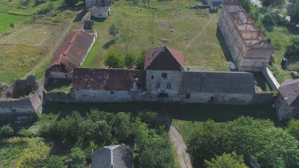 Thumbnail for Aerial of abandoned buildings