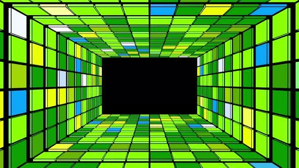 Thumbnail for Tunnel Box Colorful Vj 02 4k