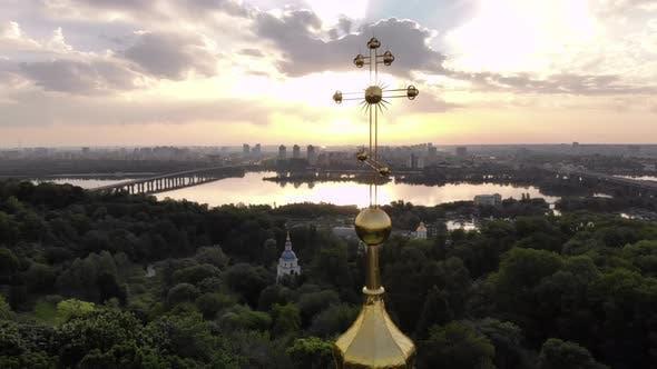 Orthodox Cross Against the Sky