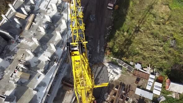 Tower crane on construction plant