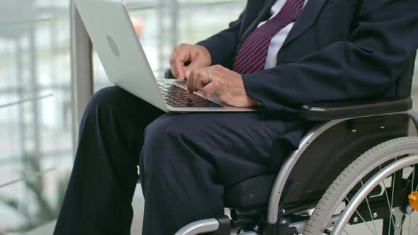 Thumbnail for Businessman in Wheelchair Using Laptop