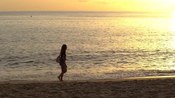 Beautiful Seascape: Sun Over the Sea Near the Shore