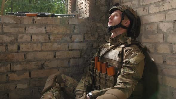 Thumbnail for Special Force Marine Smoking Cigarette After Combat