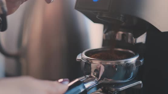 Thumbnail for Coffee Machine Morning Drink Preparation of Espresso