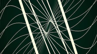Abstract motion graphics with white spirals