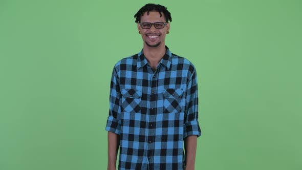 Thumbnail for Happy Young African Hipster Man Smiling
