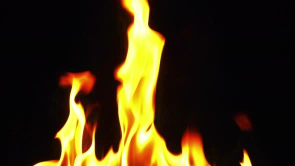 Thumbnail for Fire Burning Flames like Hell on Black Background