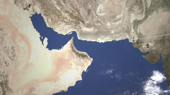 Commercial Plane Arrives To Abu Dhabi UAE