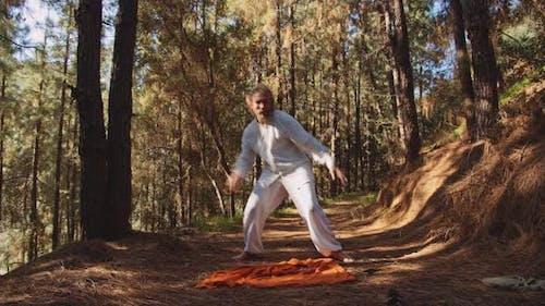 Dancing Guru Moving In Forest