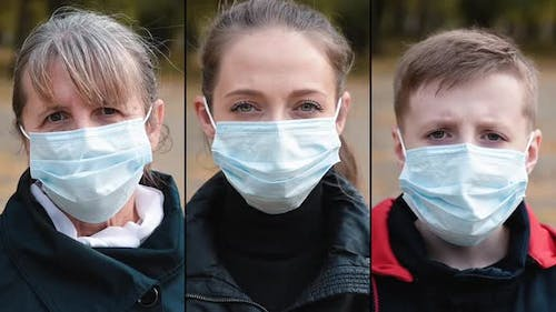 Group of People in Masks