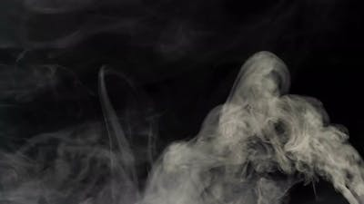 White smoke on a black background v.4