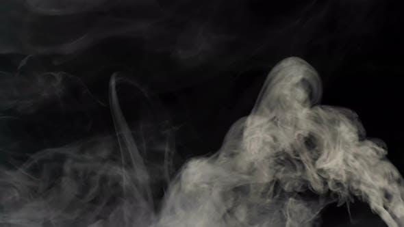 White smoke on a black background v.4