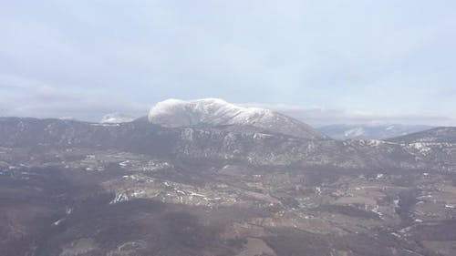 Mountains with top of Stol on Balkans 4K drone footage