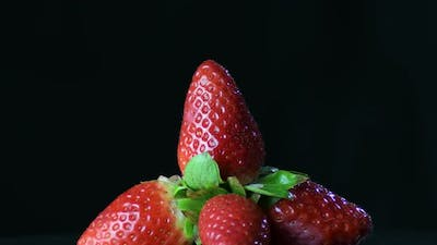 Natural Strawberries in a Mountain of Strawberries