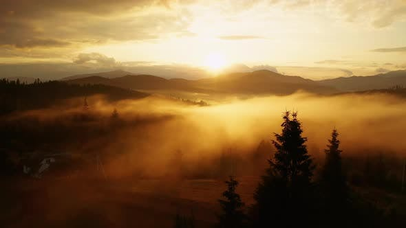 Thumbnail for Misty Dawn in the Mountains. Beautiful Landscape
