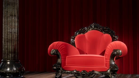 Luxurious Theater Curtain Stage Chair