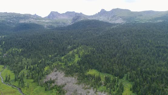Aerial View on Mountain Landscape