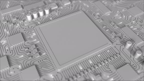Grey PCB or Printed Circuit Board