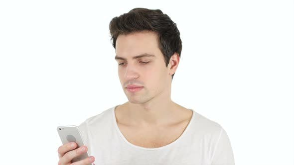 Thumbnail for Man Using Smartphone for Browsing