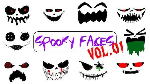 Spooky Faces Vol 1