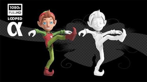Happy Xmas Can Can Dancer Elf