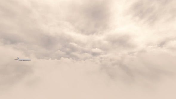 Thumbnail for Airplane Flying Over the Clouds