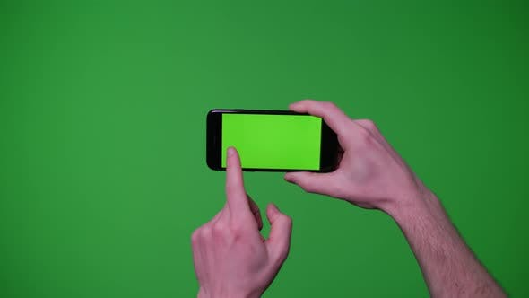 Thumbnail for Hand Gestures Pack Smart Phone Device On Greenscreen