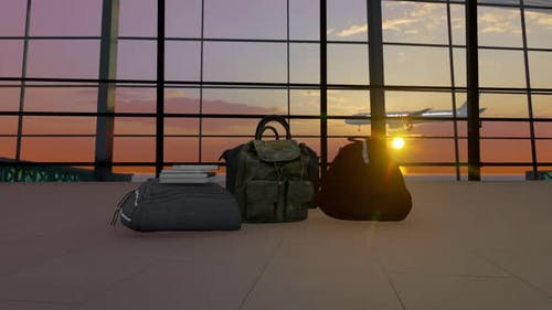 Bags In Airport Terminal