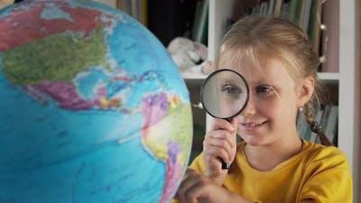 World Map and Schoolgirl