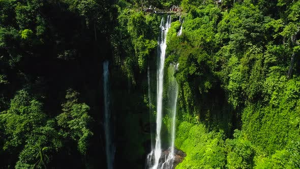 Thumbnail for Tropical Waterfall in Green Rainforest