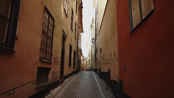 Thumbnail for Apartment Building Streets in Stockholm area.Scandinavian Facades of Town Houses